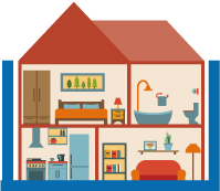 家屋の養生サービス